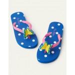 Fun Printed Flip Flops - Multi Flower Butterfly