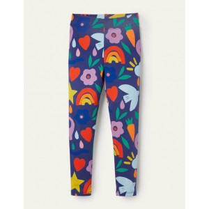 Fun Leggings - Starboard Blue Happy Dino