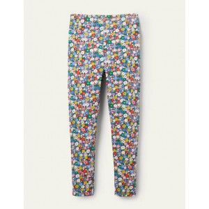 Fun Leggings - Elizabethan Blue Flowerpatch