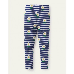 Fun Leggings - Starboard Blue/ Ivory Daisy
