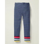 Fun Leggings - College Navy/ Ivory Rainbow