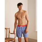 Swimshorts - Electric Blue Coral Tile
