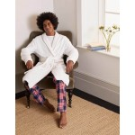 Towelling Dressing Gown - White