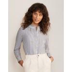Caitlin Smocked Shirt - Ivory and Summit Stripe