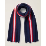 Cashmere Knitted Scarf - Navy