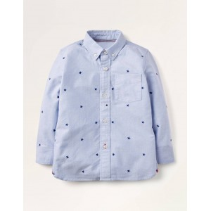 Embroidered Oxford Shirt - Blue Oxford Star