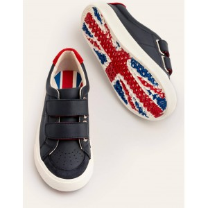 Leather Low Tops - College Navy