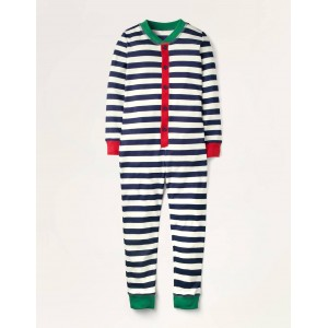 Cosy Sleep All-in-one Pajamas - College Navy/Ivory
