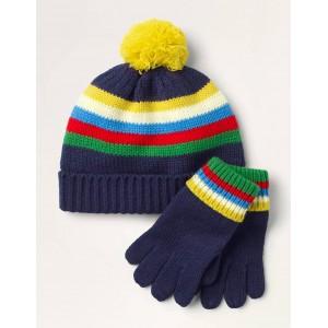 Hat & Gloves Set - College Navy