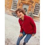 Half Zip Sweater - Rockabilly Red