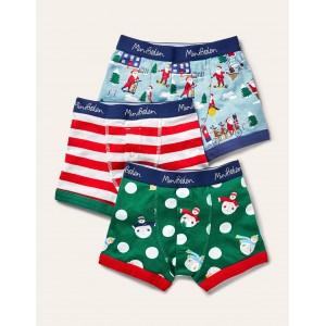 Christmas Boxers 3 Pack - Festive Multi