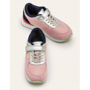 Suede Trainers - Formica Pink Multi