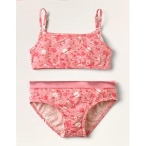 Crop Top and Pants Set - Pink Cosmos