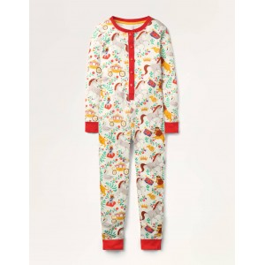 Cosy All-in-one Pajamas - Multi Great British Toile