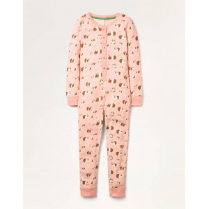 Cosy All-in-one Pajamas - Dusty Pink Flower Guineas