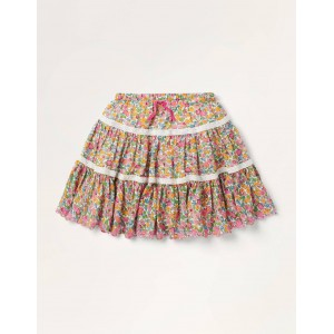 Lace Woven Twirly Skirt - Multi Vintage Floral