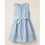 Vintage Dress - Whisper Blue Daisy Rainbow