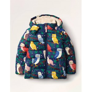 Cosy Padded Jacket - College Navy Owls