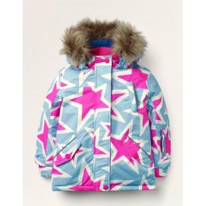 All-weather Waterproof Jacket - Frost Blue Stars