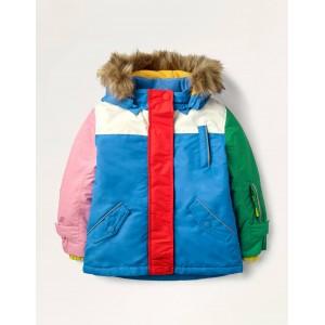 All-weather Waterproof Jacket - Elizabethan Blue Ski Bunnies