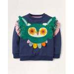 Owl Applique Sweatshirt - College Navy Owl