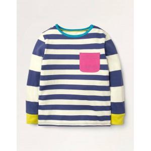 Hotchpotch Stripe T-shirt - Starboard Blue/Ivory