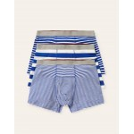 3 Pack Jersey Boxers - Regal Blue Mix Stripe Pack
