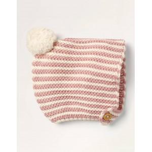 Knitted Bonnet - Vintage Pink/Ivory
