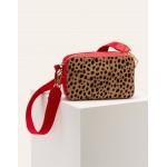Valeria Crossbody Bag - Natural Cheetah/Red