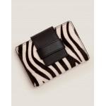 Leather Purse - Zebra/Black