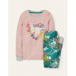 Cosy Glow In The Dark Pajamas - Pink Patchwork Pets