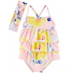Carter's 1-Piece Floral Ruffle Swimsuit