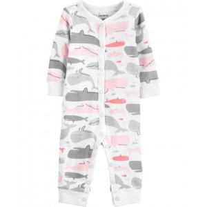 Whale Snap-Up Cotton Footless Sleep  Play