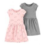 2-Pack Ballerinas  Polka Dots Jersey Dress Set