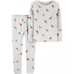 2-Piece Dinosaur Certified Organic Snug Fit Cotton PJs
