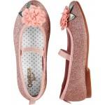 OshKosh Glitter Flower Ballet Flats