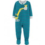 1-Piece Construction Footed Poly PJs