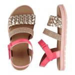 OshKosh Metallic Braided Sandals