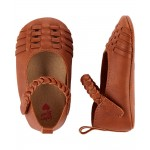 OshKosh Brown Sandal Crib Shoes