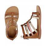 OshKosh Metallic Gladiator Sandals