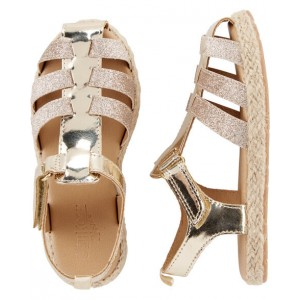 OshKosh Gold Glitter Sandals