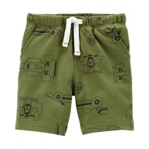 Race Car Pull-On French Terry Shorts