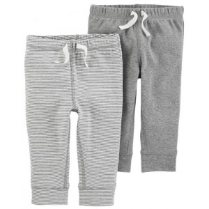 2-Pack Pull-On Pants, Grey