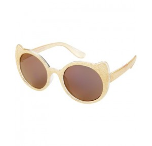 Gold Glitter Cat Sunglasses
