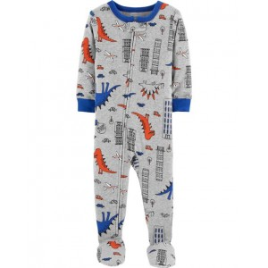 1-Piece Dinosaur Snug Fit Cotton PJs