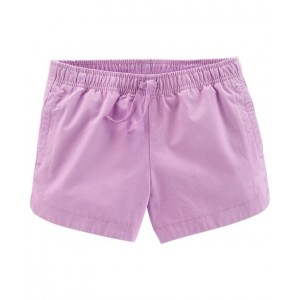 Easy Pull-On Twill Shorts