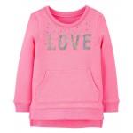 Sequin Sweatshirt Tunic