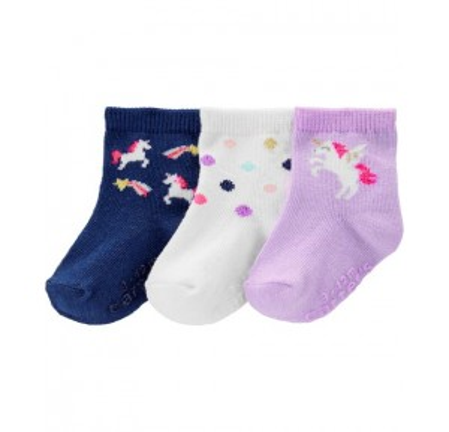 3-Pack Unicorn Crew Socks