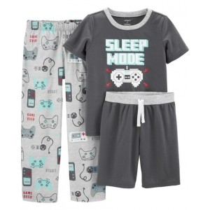 3-Piece Video Game Poly PJs