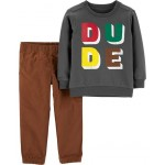 2-Piece Dude French Terry Top  Pant Set